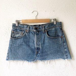 Levi's | 505 Vintage Cut off Denim Mini Skirt